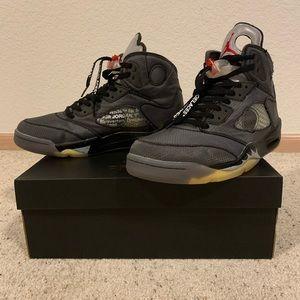 Jordan 5 x Off white shoes
